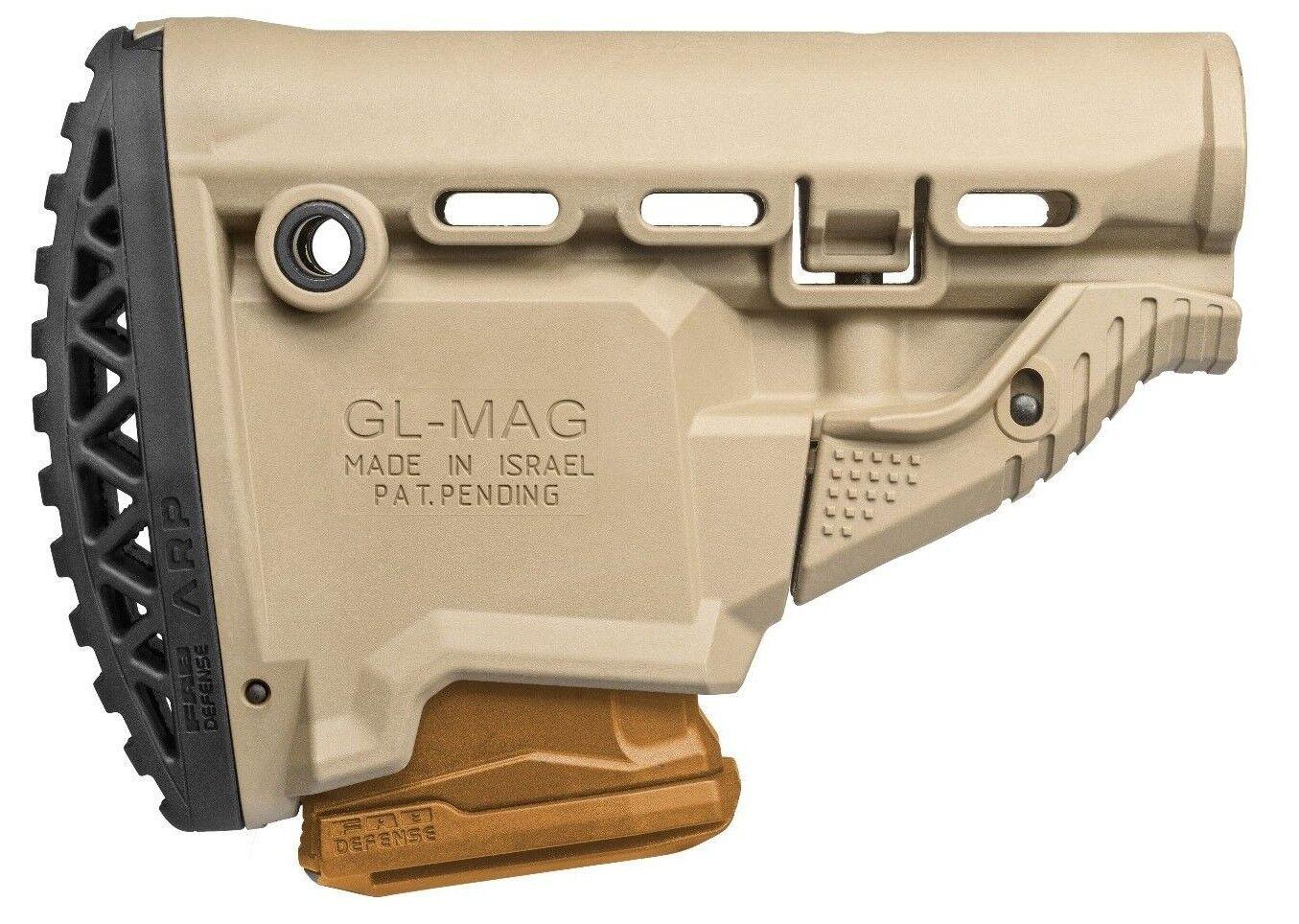GLMAG-S ARP FAB Defense Desierto Tan Trasero Stock con magazinecarrier IDF
