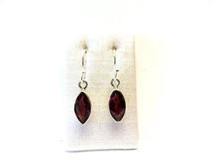 Turmalin-Rubellit-Ohrhaenger-925-Silber-Tourmaline-Earrings-Nr-E7743