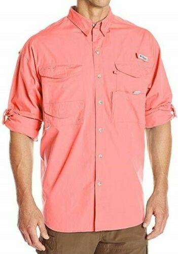 Columbia PFG Bonehead Men/'s Size 2XL XXL Long Sleeve Vented Fishing Shirt Salmon
