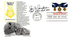 USA Medal of Honor FDC Signed by J Jackson Medal of Honor Winner.