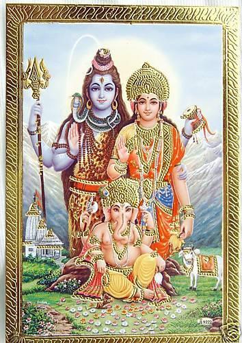 BILD GANESHA Hinduismus Prägedruck INDIEN Altarbild Vorlage Tattoo 21a