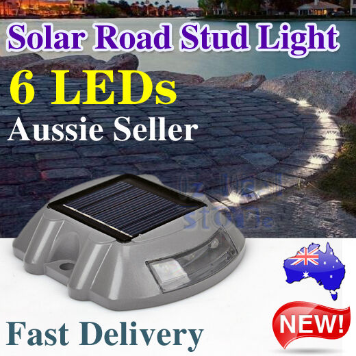 Solar Power 6 LED Outdoor Garden Road Driveway Pathway Lamp Path Security Lights