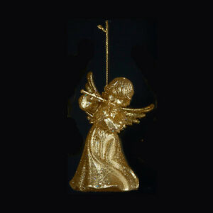 ADLER GLITTERED GOLD FILIGREE HARP MUSICAL INSTRUMENT CHRISTMAS ORNAMENT KURT S