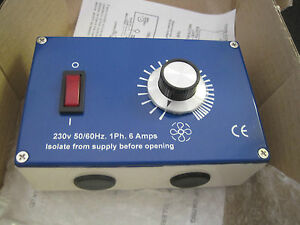 Fan Speed Controller 6 amp 230v Triac High Quality Metal Enclosure ME1.6
