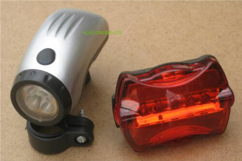 FLASHING LED FRONT + REAR MOUNTAIN BIKE LIGHTS RACER
