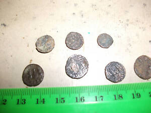 Lot-of-7-small-Ancient-Roman-Coins-average-F-bronze