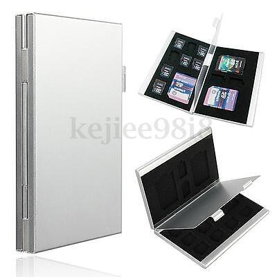 Alu Micro SD SDHC Speicherkarten Tasche Case Box Etui Speicherkartenhülle