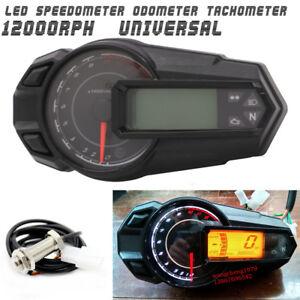 Wasserdichte-LCD-Tachometer-Tachometer-Kilometerzaehler-12000RPH-fuer-Motorrad-ATV