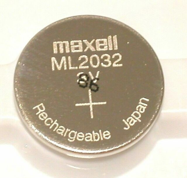 Original Maxell ML2032 Rechargeable 2032 3v CMOS Backup Battery