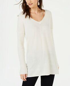INC-International-Concepts-Women-039-s-Rib-Sleeve-Sweater-White-XX-Large-Size-Macy-039-s