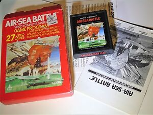 COMPLETE-Game-Air-Sea-Battle-White-Logo-Letters-Atari-2600-Video-Game-System