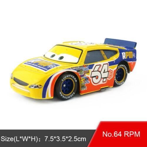 Disney Pixar Cars No.64 RPM Diecast Metal Toy Model Car 1:55 Loose Boy Kids Gift