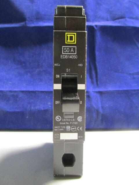 SCHNEIDER ELECTRIC 277-VOLT 50-AMP EDB14050 Miniature Circuit Breaker 277V 50A