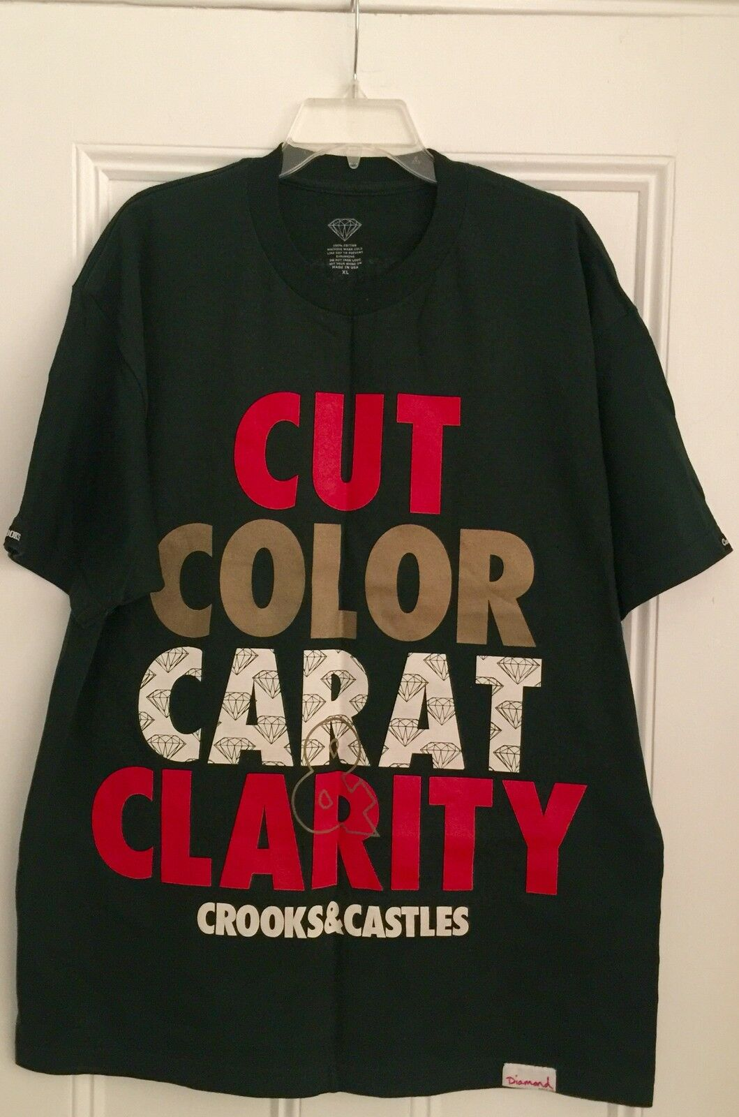 Authentic Crooks & Castles Diamond Supply Cut color Carat Clarity Supreme rare