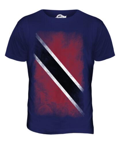 Trinité-et-tobago délavé drapeau t-shirt homme tee top trinidadiens Tobagonian cadeau