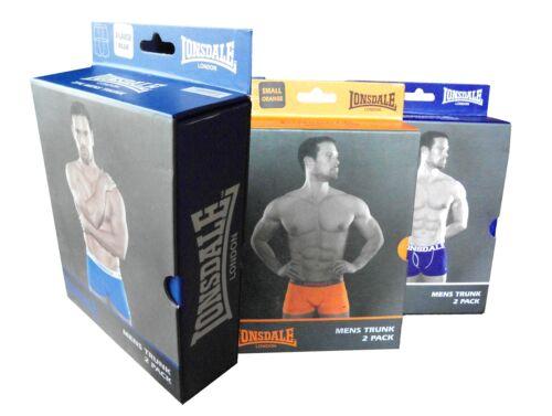 2x LONSDALE s01 Boxershorts Bottoni Trunk Mutande Shorts S M L XL XXL 3xl 4xl