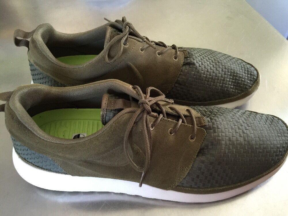 2012 Nike Rosherun Woven Squadron Green Birch Volt Woven 555602-332 Mens Comfortable Brand discount