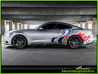 Ford Mustang Cobra Jet Full Color Vinyl Skin Wrap 2015 14 13 12 11 2010 09 08 07