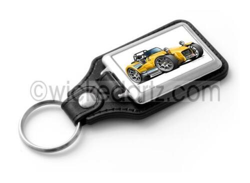 WickedKarz Cartoon Car Caterham Westfield Lotus Super 7 Yellow Stylish Key Ring