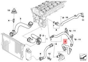 Genuine Engine Thermostat Water Hose BMW X5 E53 X5 3.0i SUV 11537510120 |  eBayeBay