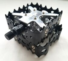 Bear Trap Bike Pedals Bmx Mtb Claw Wellgo Lu 953 Old School Black 1
