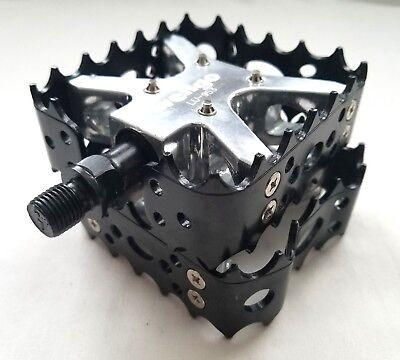 "New Wellgo LU-953 BMX Bicycle Bike Bear Trap Style Pedals 9//16/"" Black"