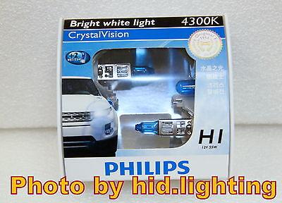 Genuine Philips Crystal Vision CrystalVision H1 4300K headlight bulb 12258 lamp