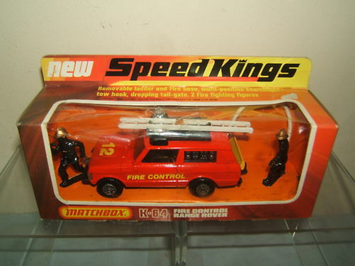 MATCHBOX SPEED KING MODEL K64 RANGE ROVER  FIRE CONTROL   MIB