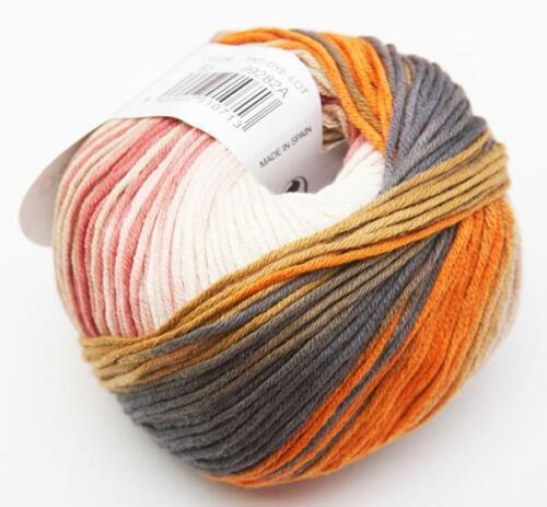 50g DEGRADÉ SUN KATIA 100/% Baumwolle FARBVERLAUF 93 BATIK Baby-Wolle cotton yarn