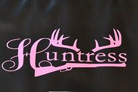 Pink Vinyl Decal Huntress 156 4 X 10 Trap Traps Trapping