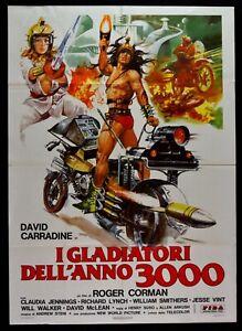 Manifesto-I-Gladiadores-Dell-039-Ano-3000-Roger-Corman-Carradine-Moto-Sci-Fi-M68