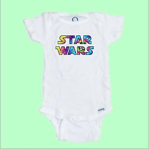 Star Wars Tye Dye Style Funny baby Onesie 100/% Organic Cotton