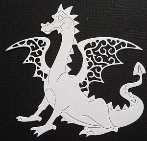 CHOICE-OF-COLOUR-4-x-Dragon-Fairytale-Die-Cuts-Scrapbooking-Cardmaking