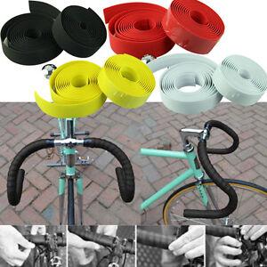 Adhesive-Wrap-Cycling-Handle-Belt-Bike-Bicycle-Cork-Handlebar-Tape-2-Bar-Plug