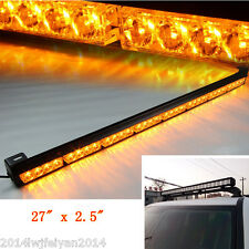 "27"" Amber Car SUV 4x4 Warning Caution Van Truck 24Led Emergency Strobe Light Bar"