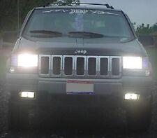 93 95 97 98 Jeep Grand Cherokee High Beam Fog Light Kit, Turns Fogs On W Highs!