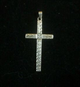 Vintage-Sterling-Silver-Cross-1-3-4-034-L