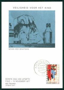 Adroit Pays-bas Mk 1977 Voor Het Enfant Maximum Carte Carte Maximum Card Mc Cm Ek08-afficher Le Titre D'origine