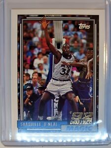 1992-93-TOPPS-Shaquille-O-039-Neal-RC-ROOKIE-CARD-Magic-Lakers-LSU-SHAQ-362
