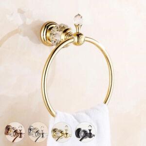 Brass Towel Ring Round Holder Bathroom Wall Mounted Hanger Chrome