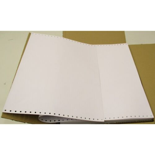 "1500 x Sheets Continuous Feed Computer Listing Paper 297x370mm 11/"" 1-Part B2FZ#"