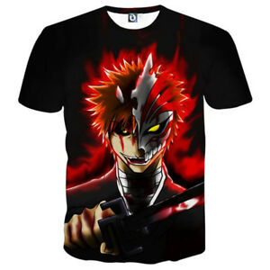 81c1d6a36 Details about Womens/Mens Bleach Anime Funny 3D Print Casual T-Shirt Short  Tops Tee Sleeve T29