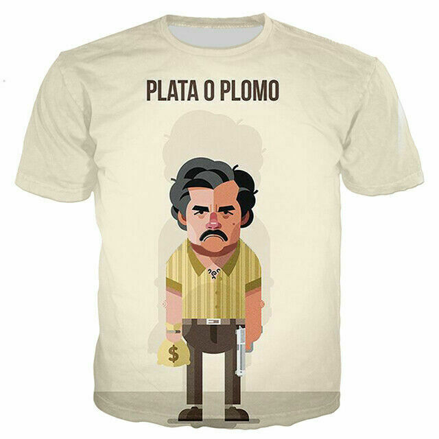 PABLO ESCOBAR  3D Printed Women//Men/'s T-Shirts