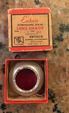 Vintage Enteco Slip-on Filter Holder and Lens Shade in Original Box