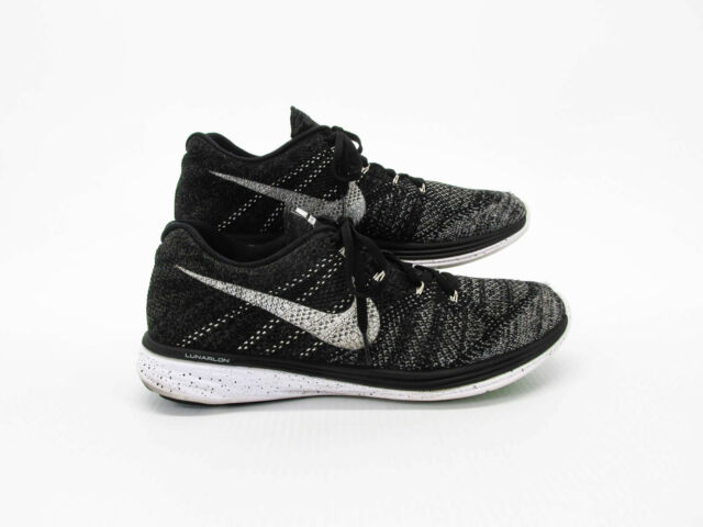 Nike Flyknit Lunar 3 Oreo Size 10 Running Shoes 698181 010