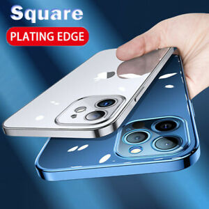 Case-For-iPhone-12-Pro-Max-12-Mini-Shockproof-Plating-Edge-Clear-Soft-TPU-Cover