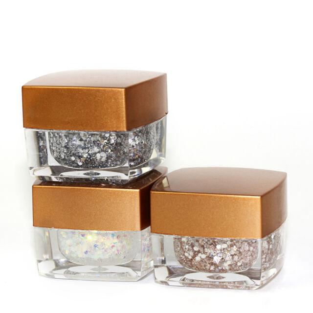 8 Colors Nail Art Powder Glitter Dust Polish UV Gel Acrylic Tips Decoration hot
