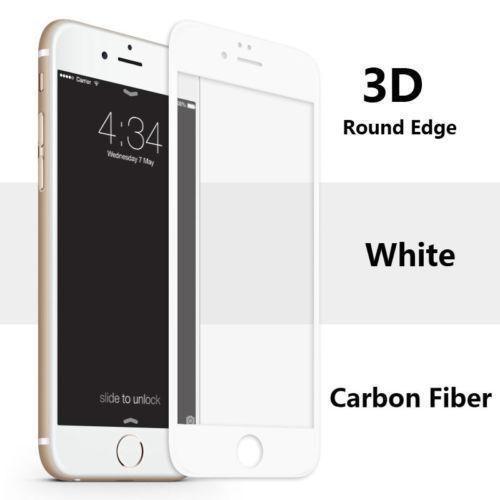 3d Full Cover Incurvé En Verre Trempé écran Blanc Protecteur Iphone 6 S Plus
