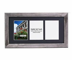 Creativepf 3 Opening Multi 5x7 Driftwood Picture Frame 10x20 Black