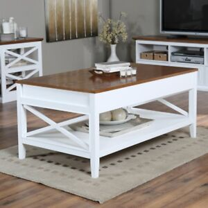Image Is Loading Belham Living Hampton Lift Top Coffee Table White
